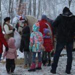 Mikołaj w jasielskim parku