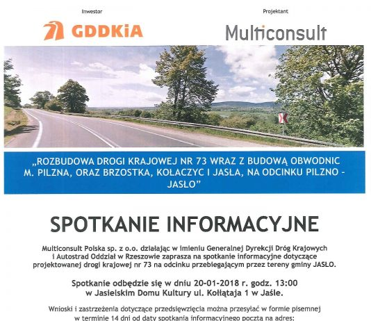 Spotkanie informacyjny droga DK 73