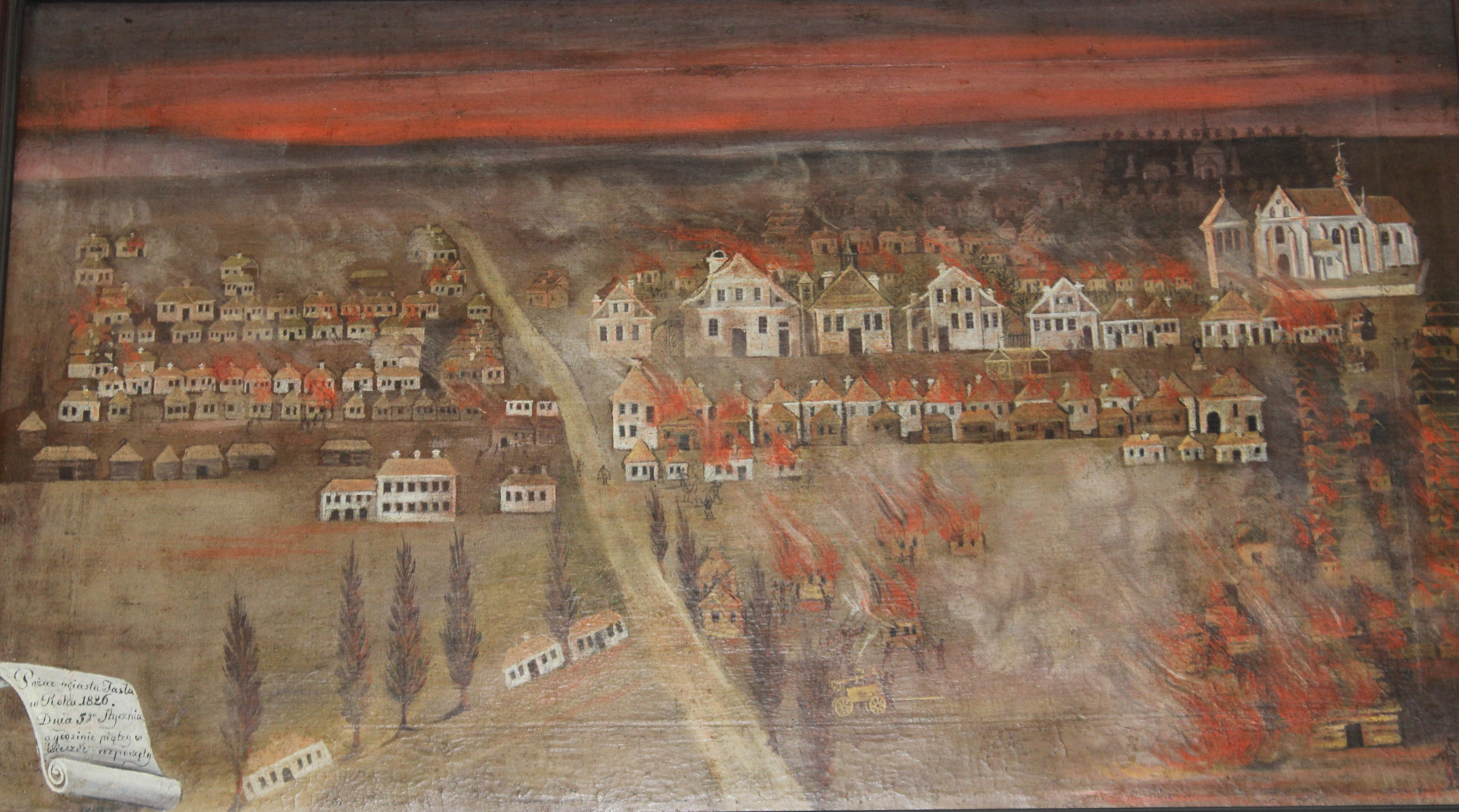 01 - Jan Seweryn, Pożar Jasła w 1826 r