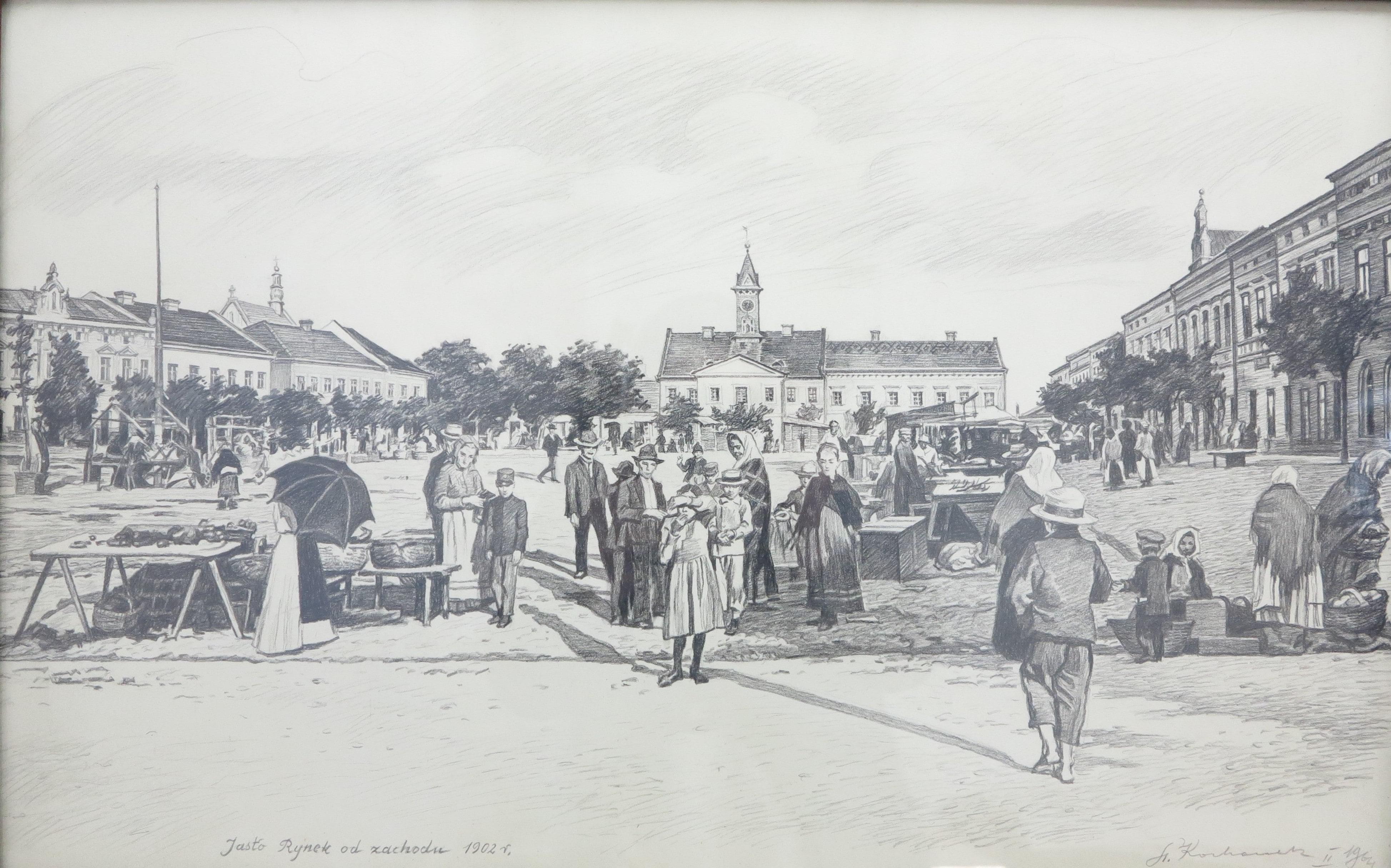 08 - Stanisław Kochanek, Jasło Rynek od strony zachodniej