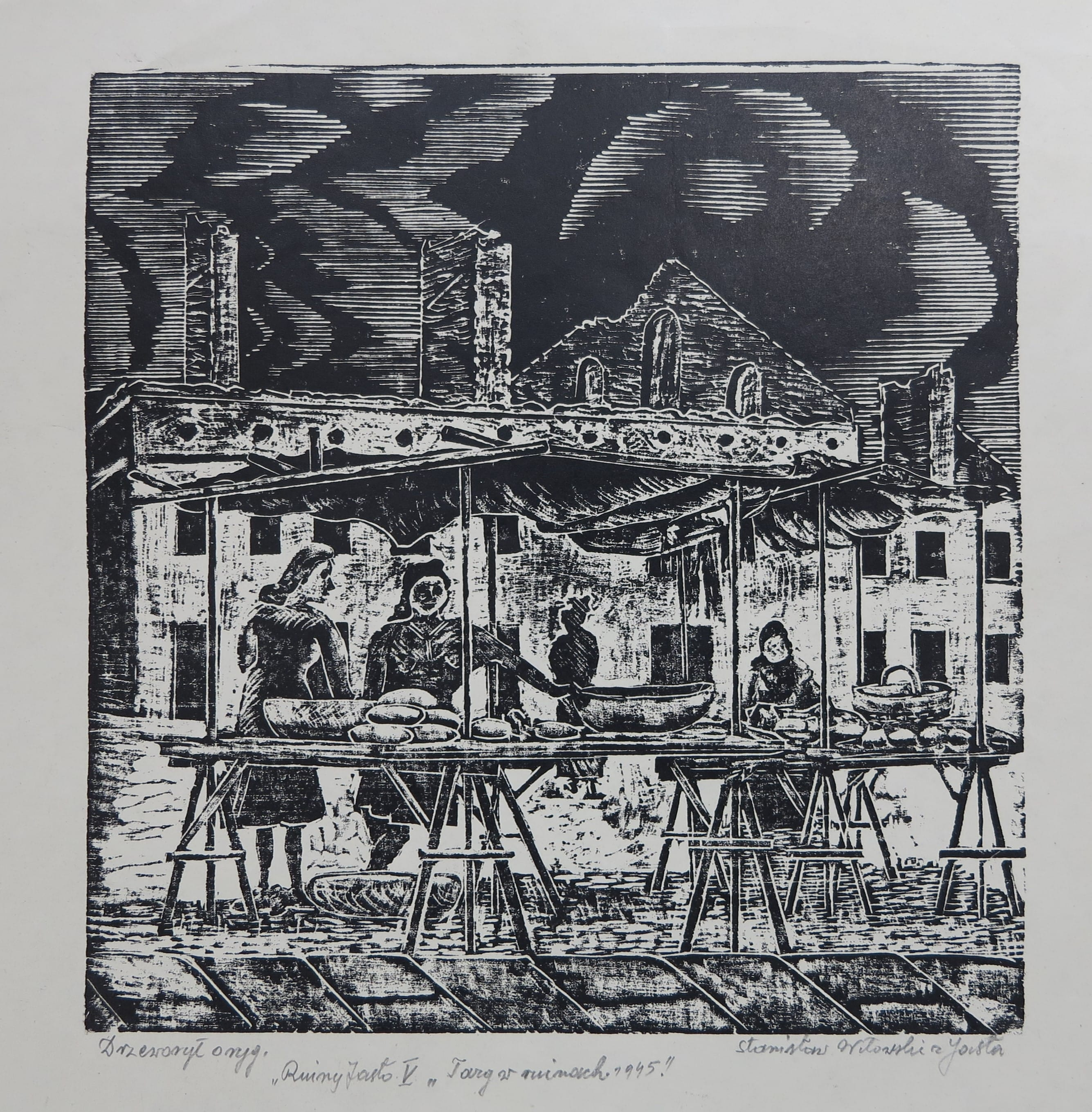 10 - Stanisław Witowski z Jasła, Targ w ruinach