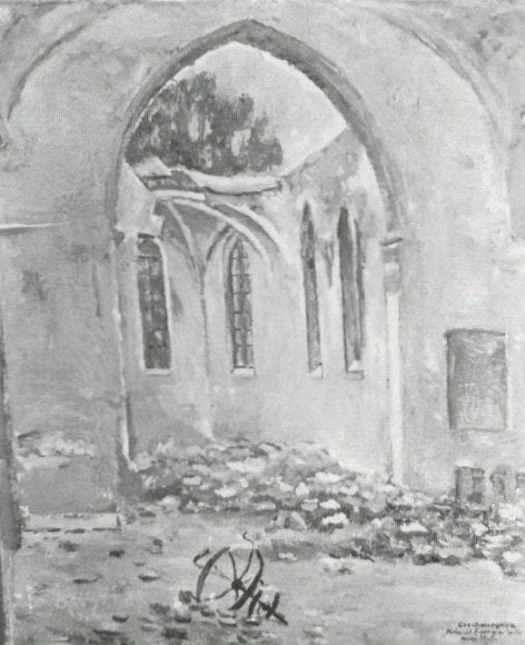 13 Witold Ciechanowicz, Ruiny kościoła farnego, własność prywatna