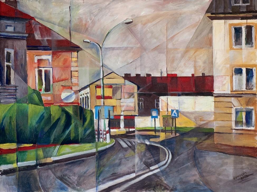 16 - Jan Kukułka, Jasło Rynek, akryl