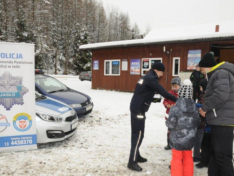 bezpieczeństwo na stoku z jasielską policją