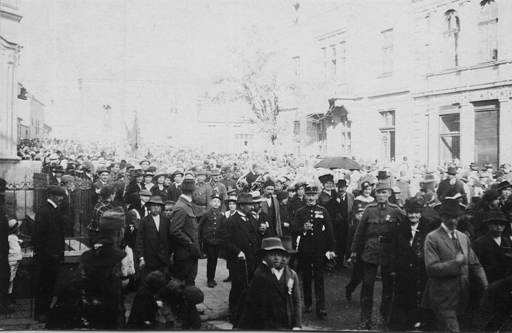 Manifestacja 17 lutego 1918r na ul Kościuszki