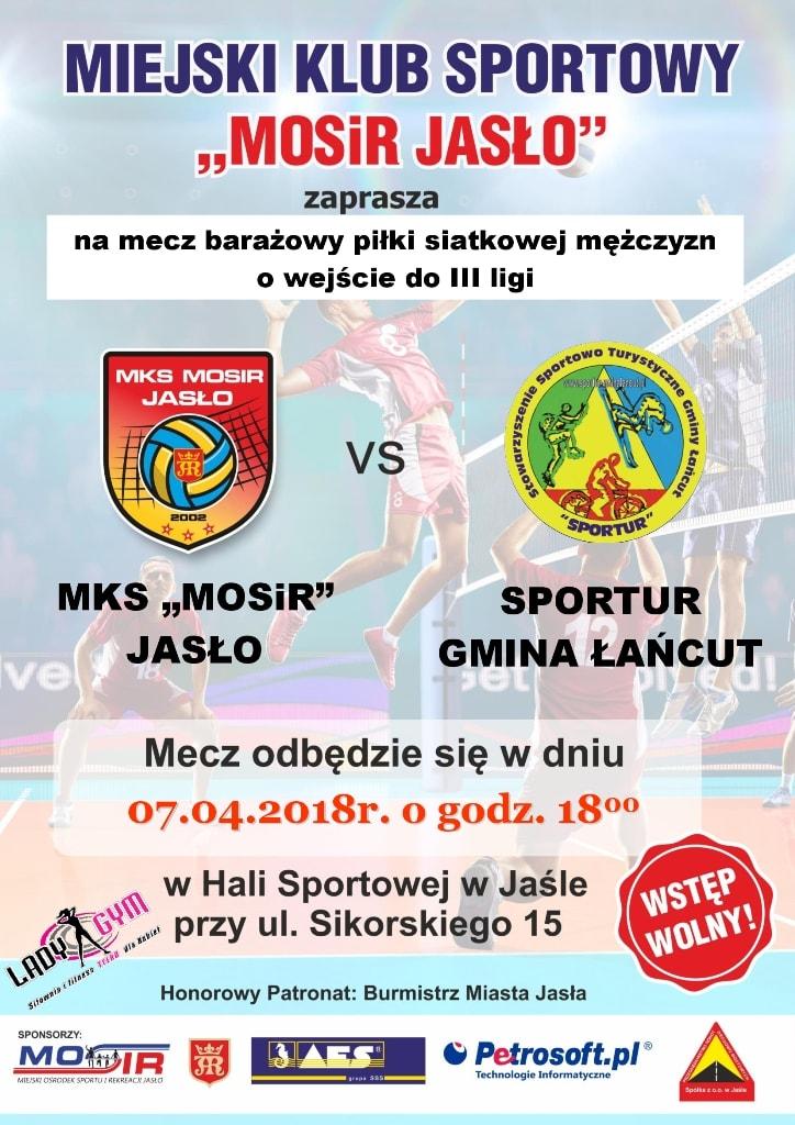Plakat MKS - siatkówka Jasło