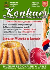 Plakat - konkurs wielkanocny Muzeum Regionalne w Jaśle