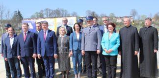 Wmurowanie kamienia węgielnego pod budowę nowej Komendy Policji