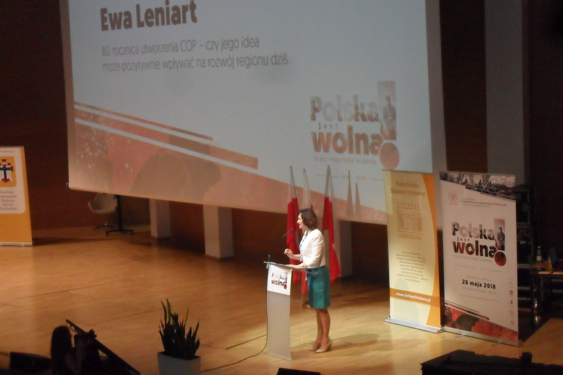 """Jaślanie na konferencji """"Polska jest wolna! – To jest moja matka, ta ziemia!"""""""