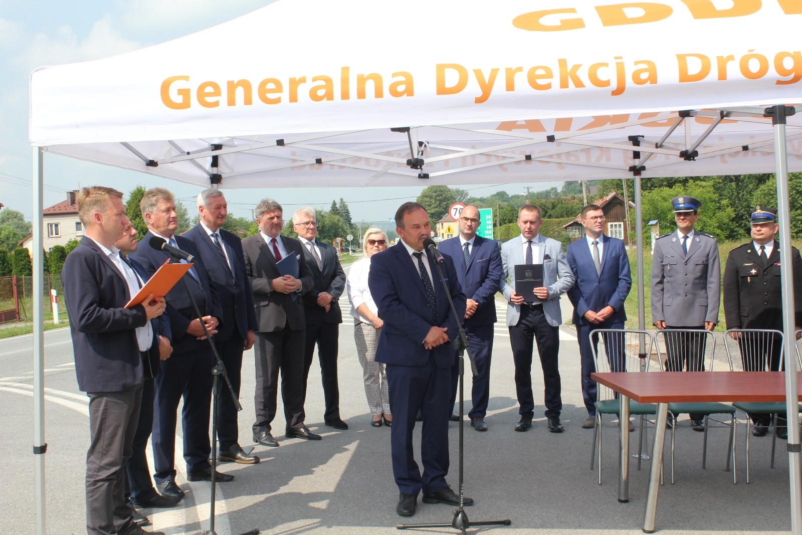 Uroczyste podpisanie umowy na rozbudowę drogi krajowej nr 28