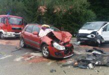 Wypadek w Krajowicach - zablokowana droga nr 73