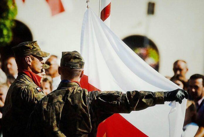 Przysięga żołnierzy Obrony Terytorialnej Trzcinica Jasło