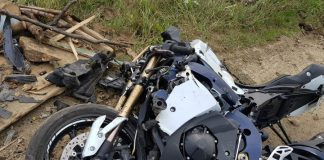 Wypadek motocyklisty Warzyce Jasło