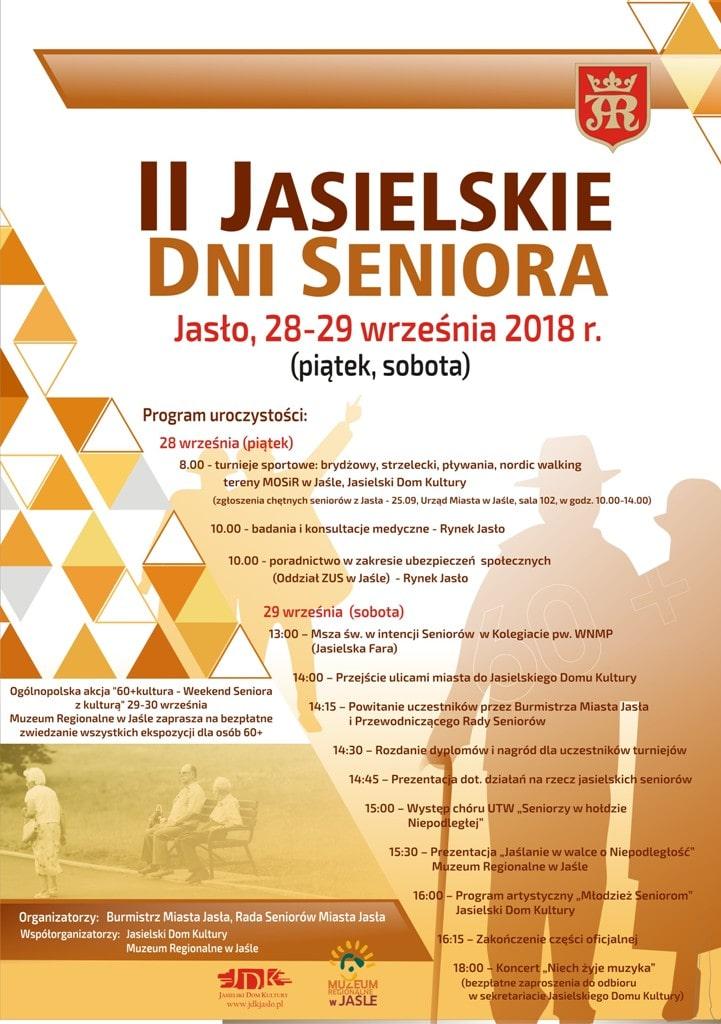 II Jasielskie Dni Seniora plakat