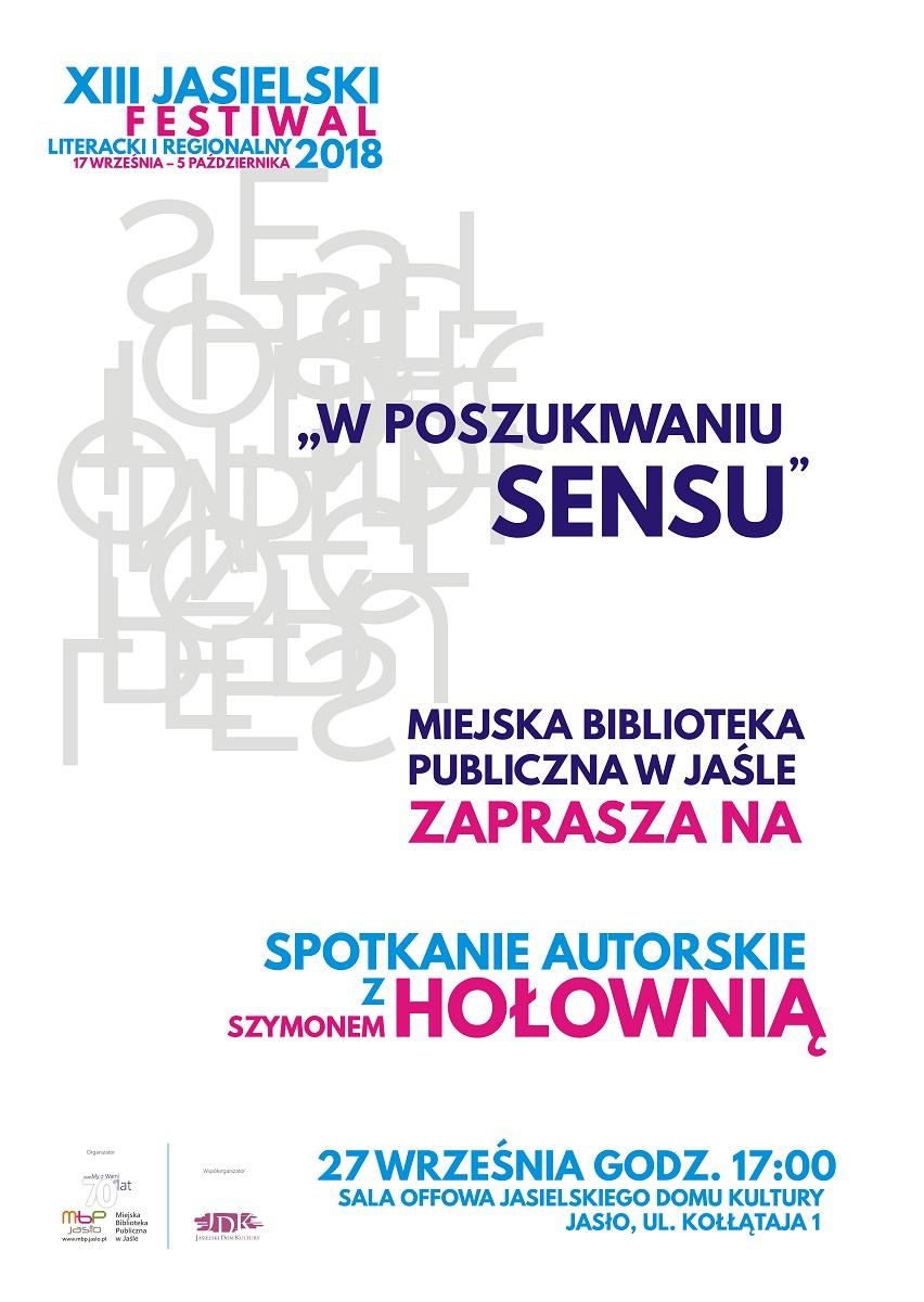 Spotkanie z Szymonem Hołownią plakat