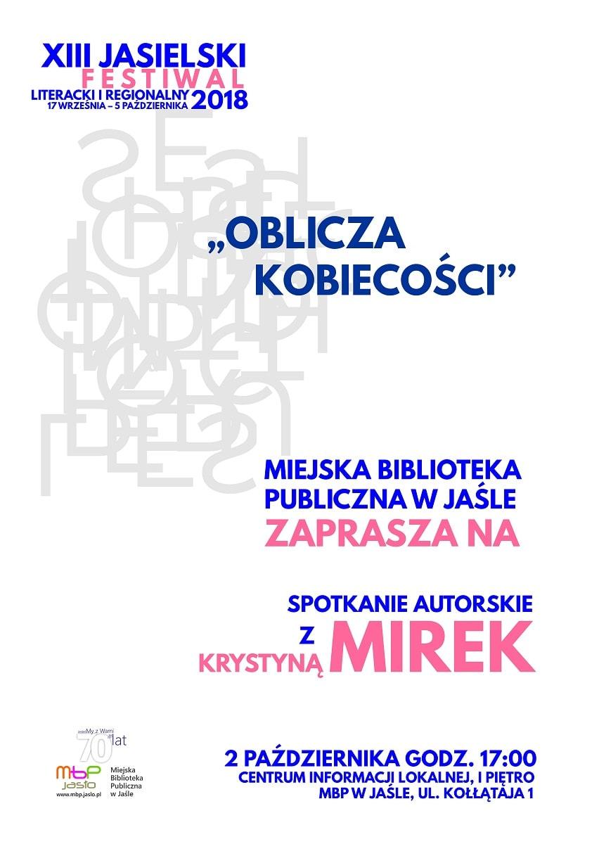 Oblicza kobiecości – Krystyna Mirek w jasielskiej Bibliotece