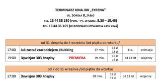 Kino Syrena Jasło wrzesień 2018