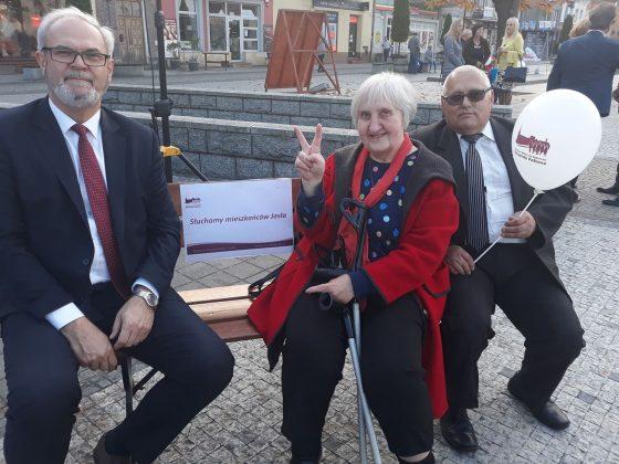 na ławeczce z Ryszardem Pabianem