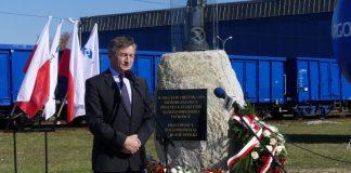 Odsłonięcie i poświęcenie pomnika świętej Katarzyny Aleksandryjskiej - marek Kuchciński Jasło