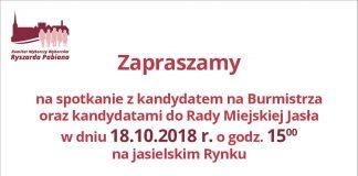 Zaproszenie na spotkanie KWW Ryszarda Pabiana - plakat