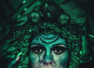 Turquoise abstraction Urszula Kaczor Moje Jasło