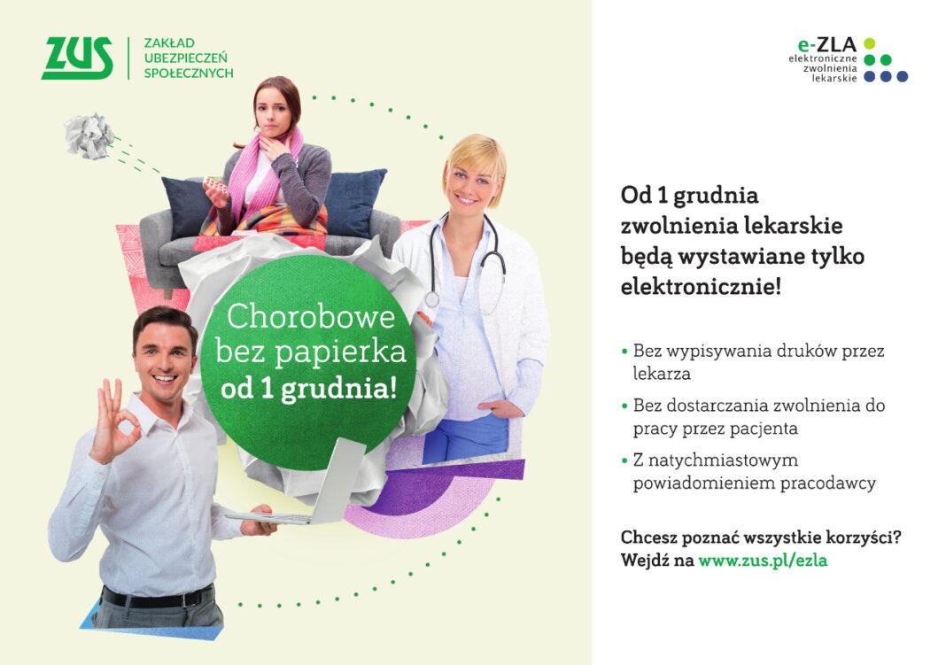 Elektroniczne zwolnienia lekarskie e-ZLA