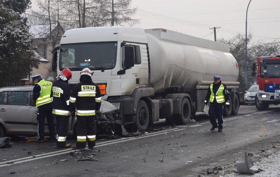Zablokowana droga nr 73 w Jaśle