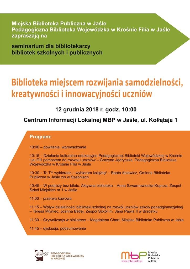 Seminarium afisz Jasło