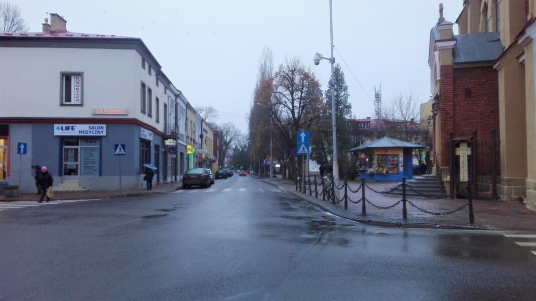 Utrudnienia w ruchu na ulicy Czackiego w Jaśle