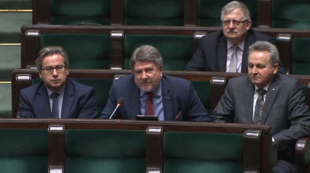 Bogdan Rzońca - zapytanie o zbiornik Kąty-Myscowa