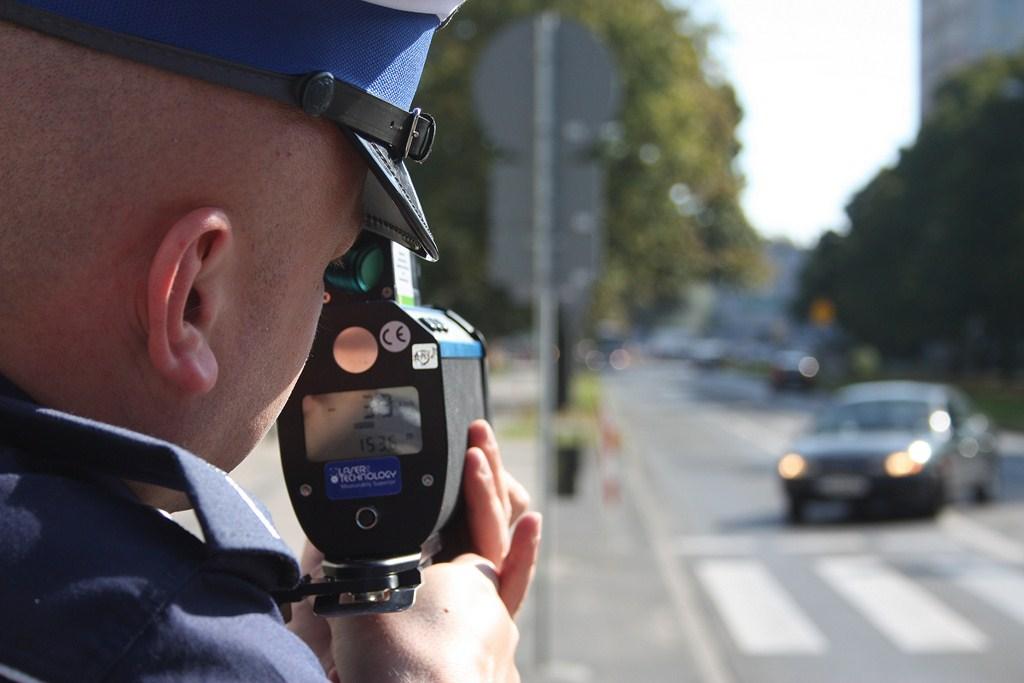 Pomiar prędkości policja Jasło