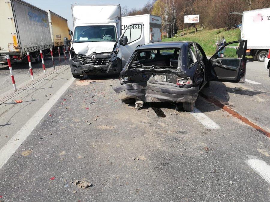 Wypadek na krajowej 73 Jasło