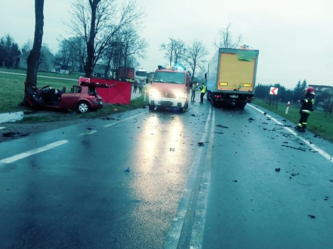 śmiertelny wypadek w Krajowicach - Jasło