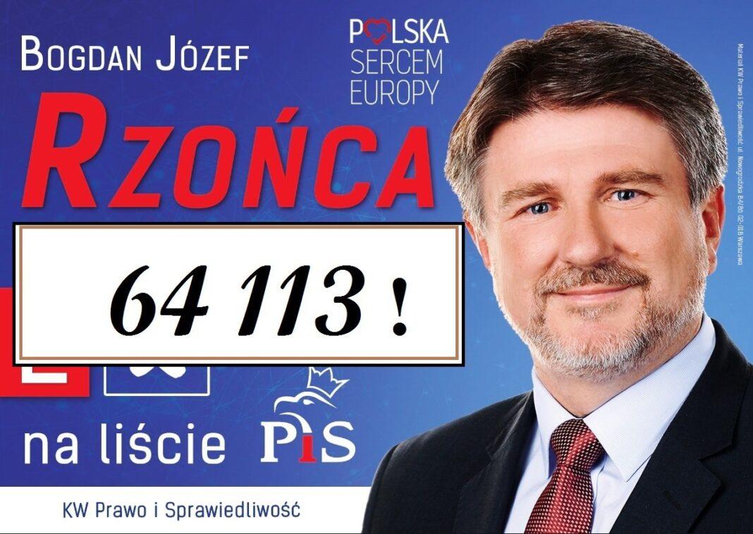 Bogdan Rzońca wygrywa wybory do Europarlamentu