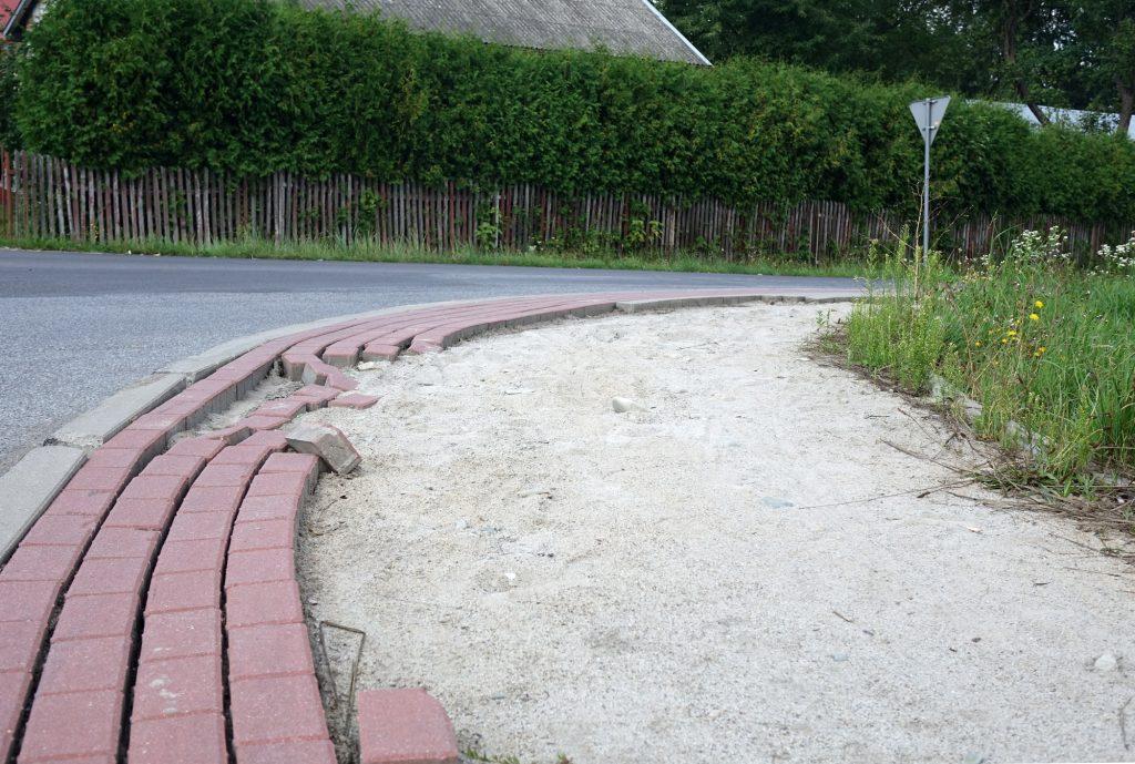 Kradzież kostki brukowej Krajowice Jasło