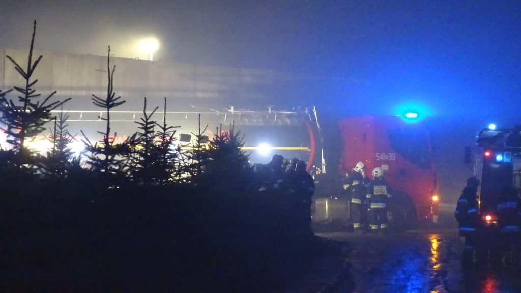 Pożar sortowni śmieci w Wolicy k. Jasła
