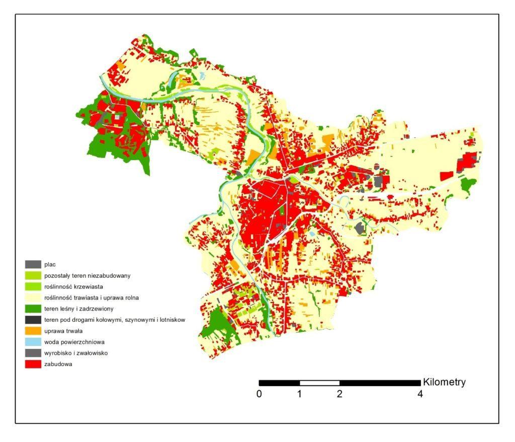 Ślad wodny - mapa Jasło