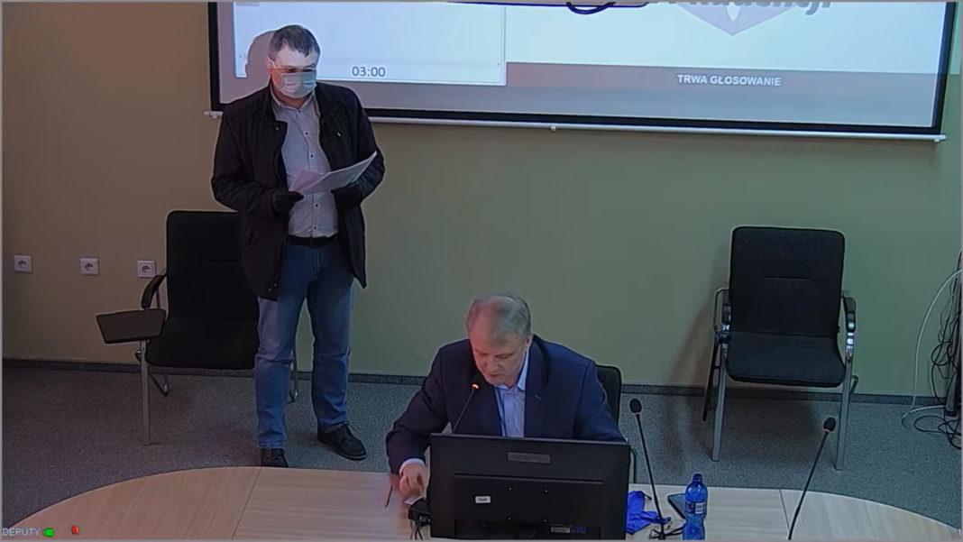 Sesja Rady Powiatu Jasielskiego - Krzysztof Buba