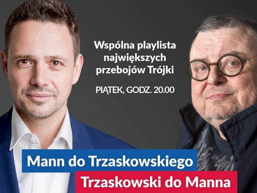 Mann do Trzaskowskiego, Trzaskowski do Manna