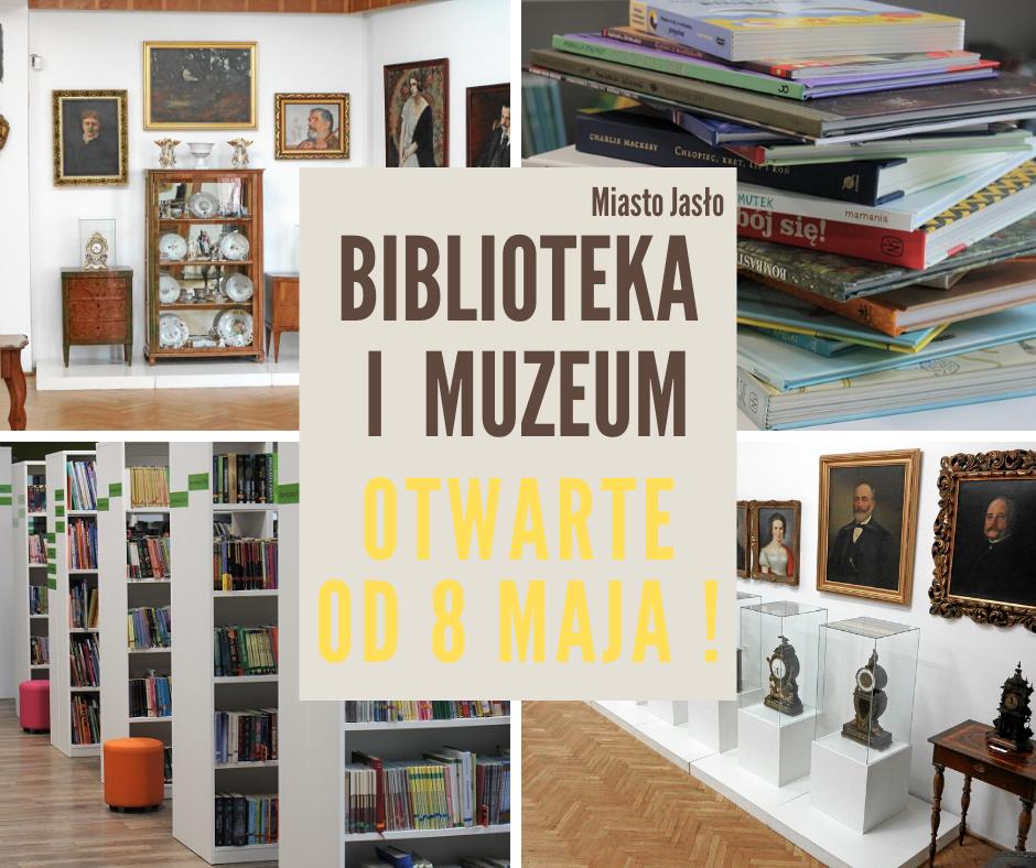 Biblioteka i muzeum otwarte od piątku
