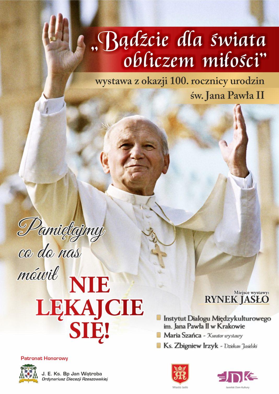 100. rocznica urodzin Jana Pawła II - plakat Jasło