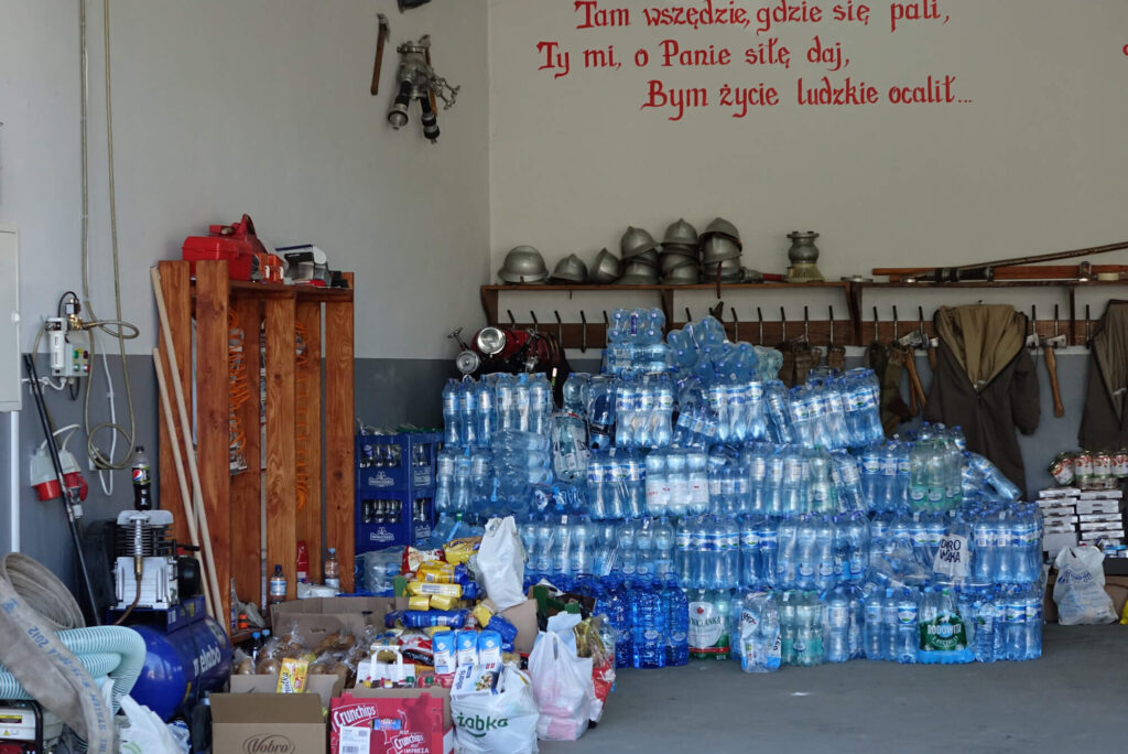 Pomoc dla ofiar kataklizmu w Trzcinicy