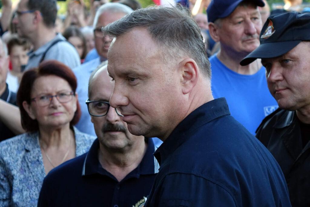 Prezydent Andrzej Duda w Trzcinicy w powiecie jasielskim