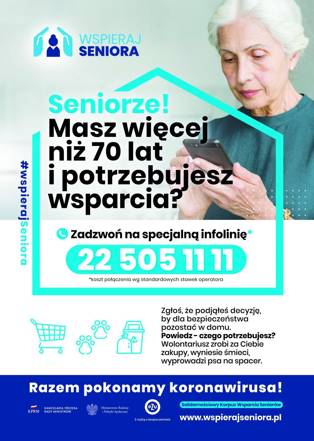 Seniorze zostań w domu – plakat