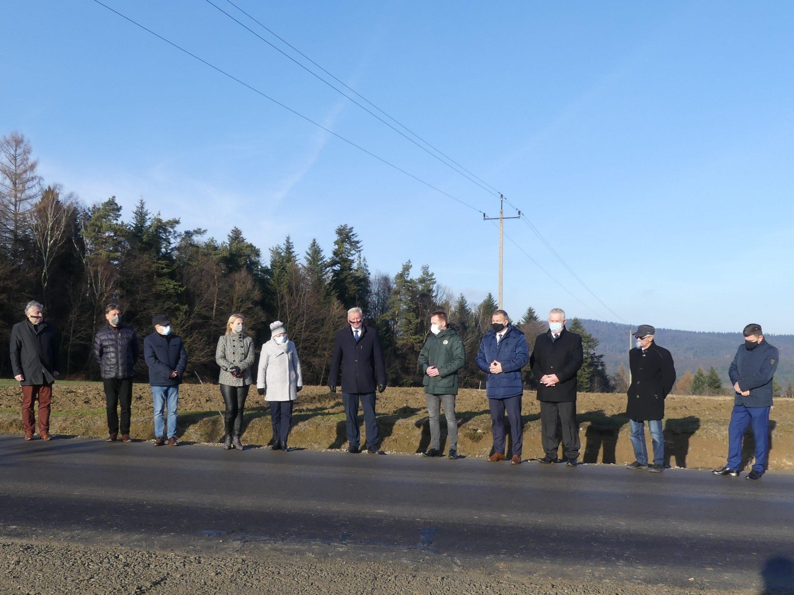 Oddanie do użytku drogi powiatowej Lipnica Górna – Lisów – Skołyszyn w miejscowości Bączal Górny