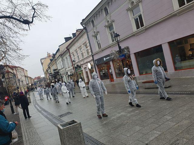 Marsz niewolników COVID-19 Rzeszów/Jasło