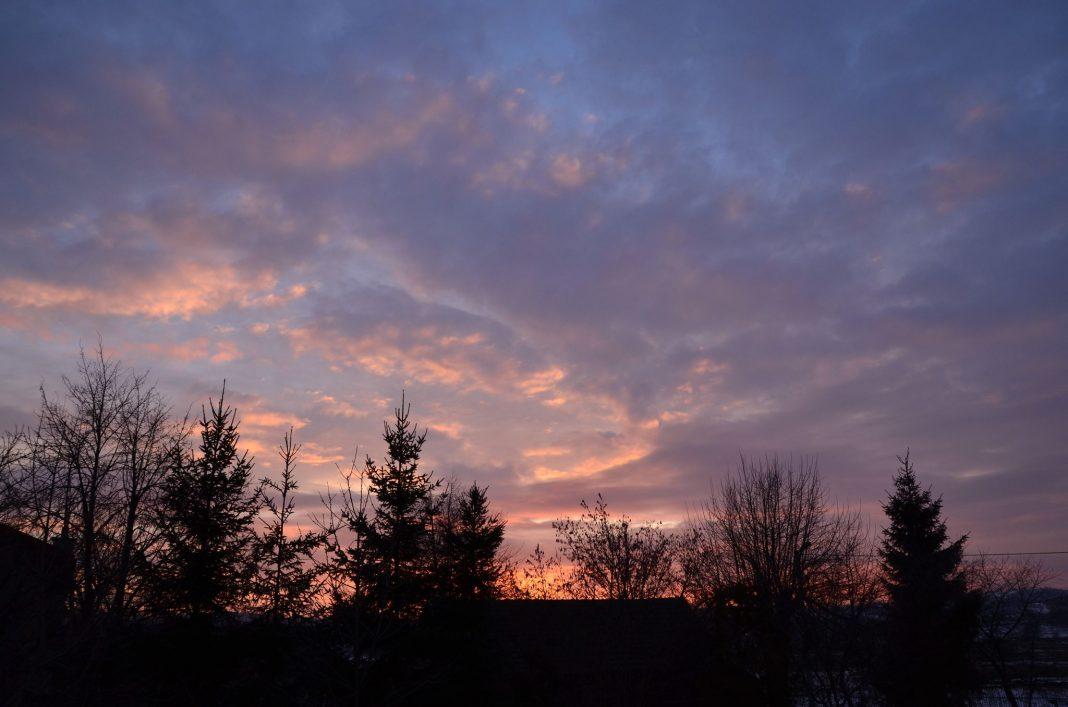 Jasło. O zachodzie słońca