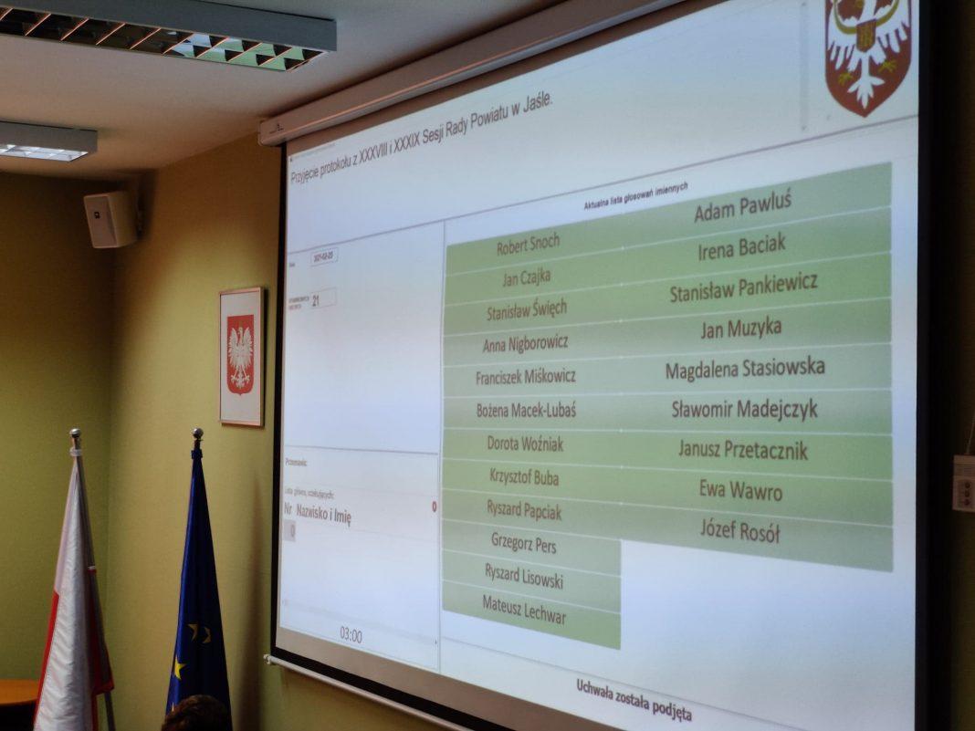 XL Sesja Rady Powiatu w Jaśle