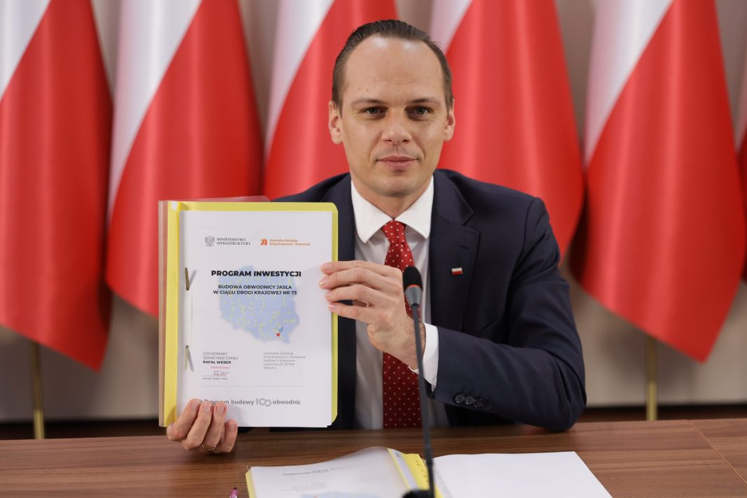Wiceminister infrastruktury Rafał Weber zatwierdził Program inwestycji dla obwodnicy Jasła