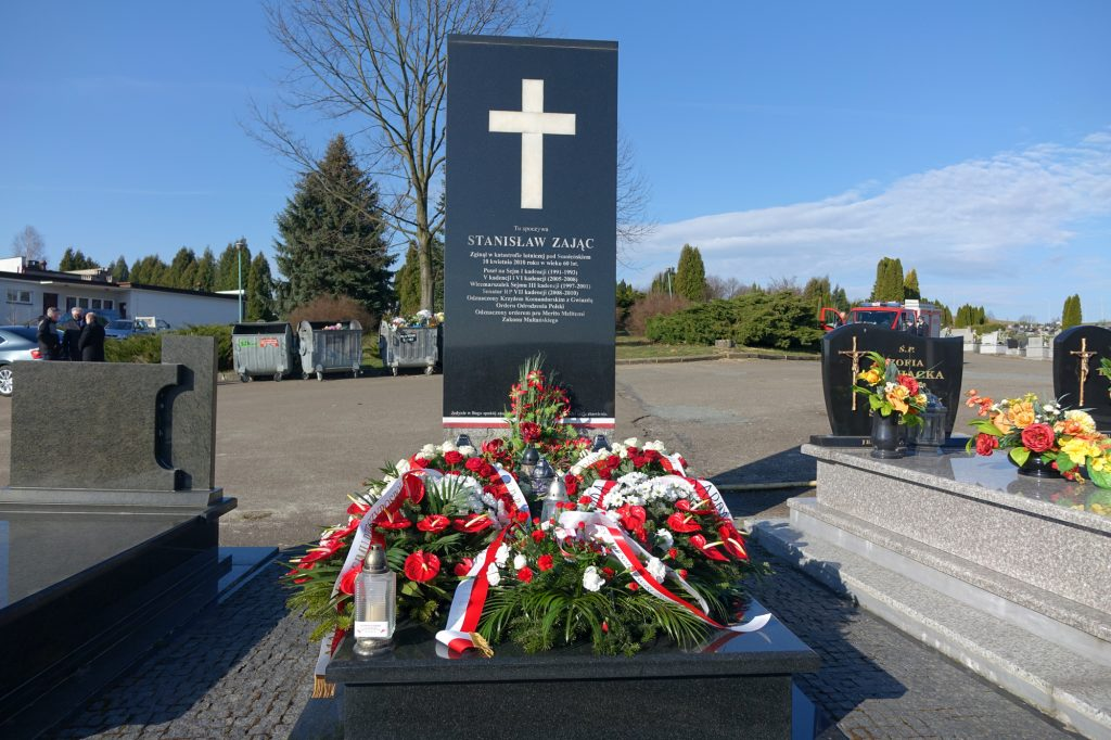 Cmentarz w Jaśle - grób śp. Stanisława Zająca